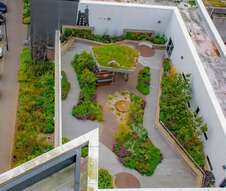 Le Jardin sur le toit de l'Hôpital d'Aberdeen (UK)