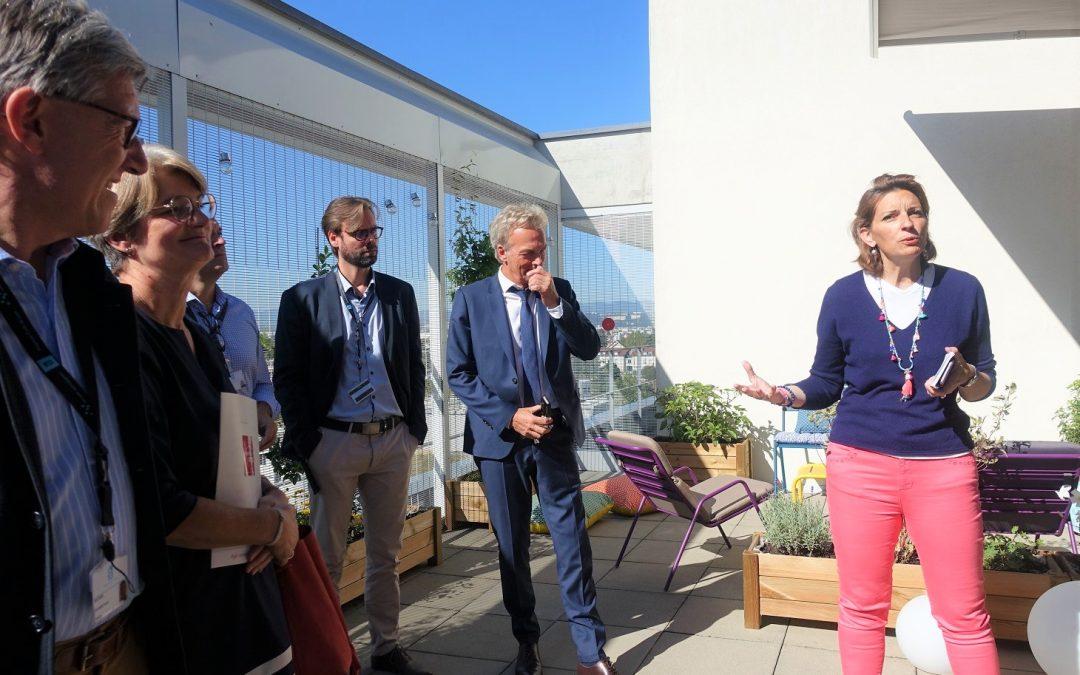 Inauguration du «Jardin de Vie» du service de pédopsychiatrie de l'HFME à Lyon