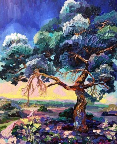 Quand une artiste peintre sublime les arbres…